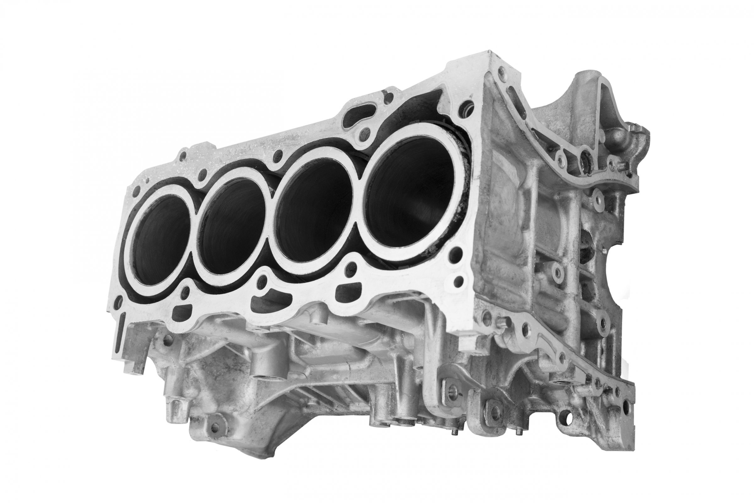 Bloco de motor quatro cilindros