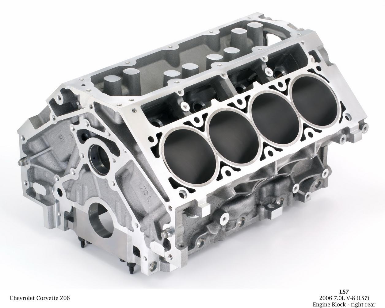 Bloco de um motor V8