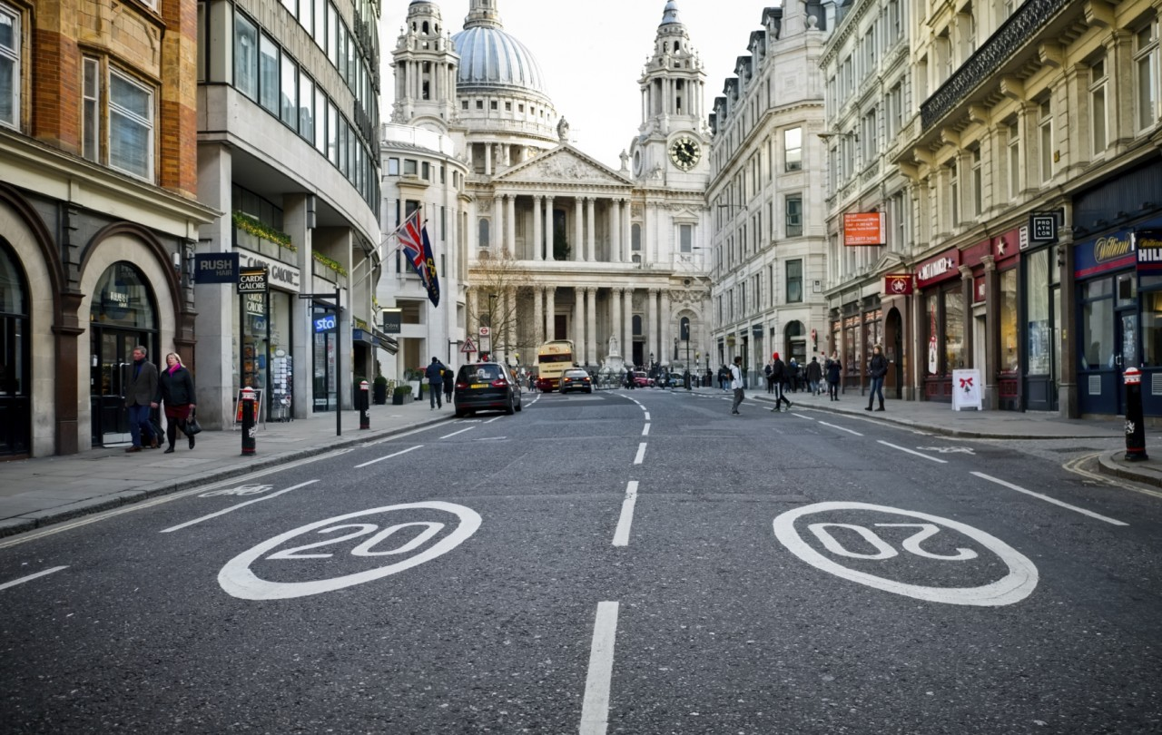 Velocidade reduzida em Londres