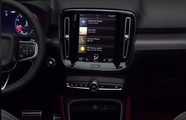 Volvo xc40 painel teaser video vazado