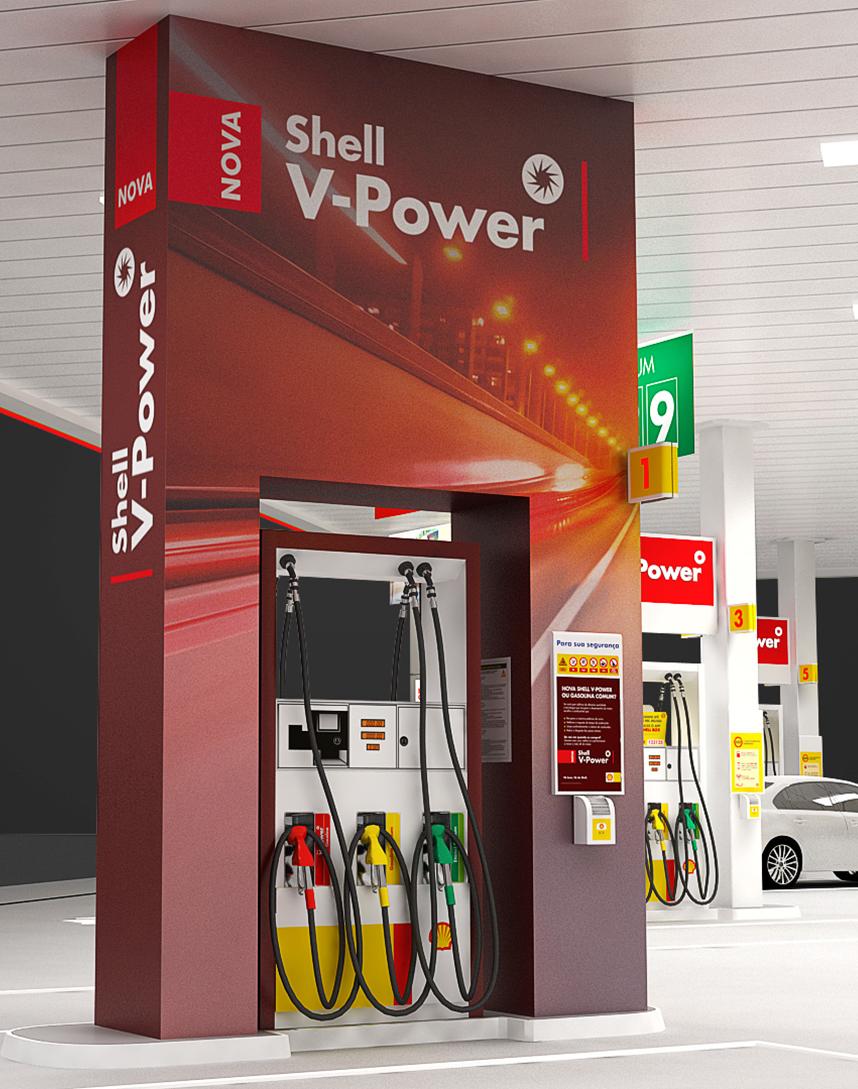 nova gasolina aditivada shell v-power raizen
