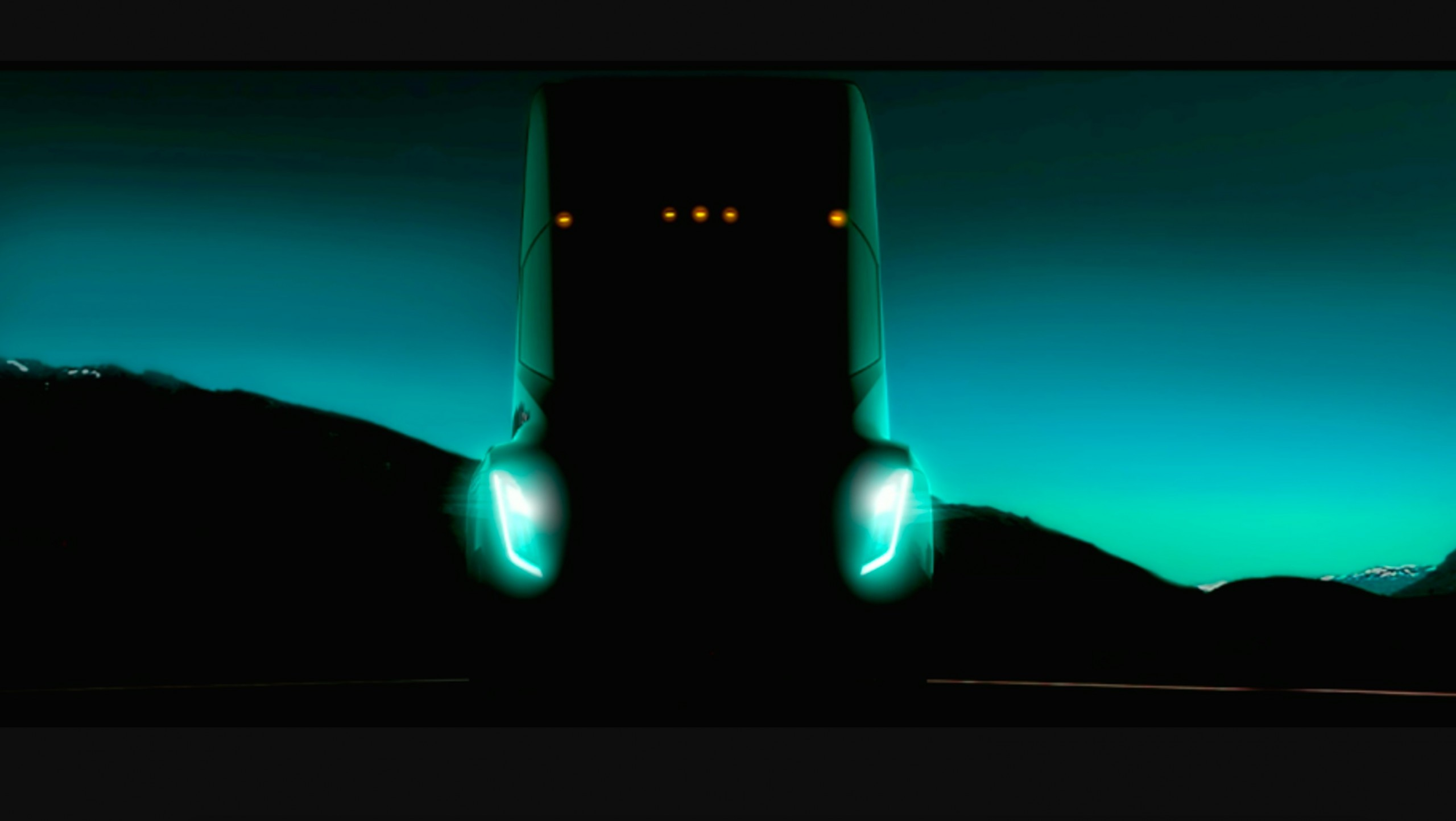 Teaser do caminhão da Tesla