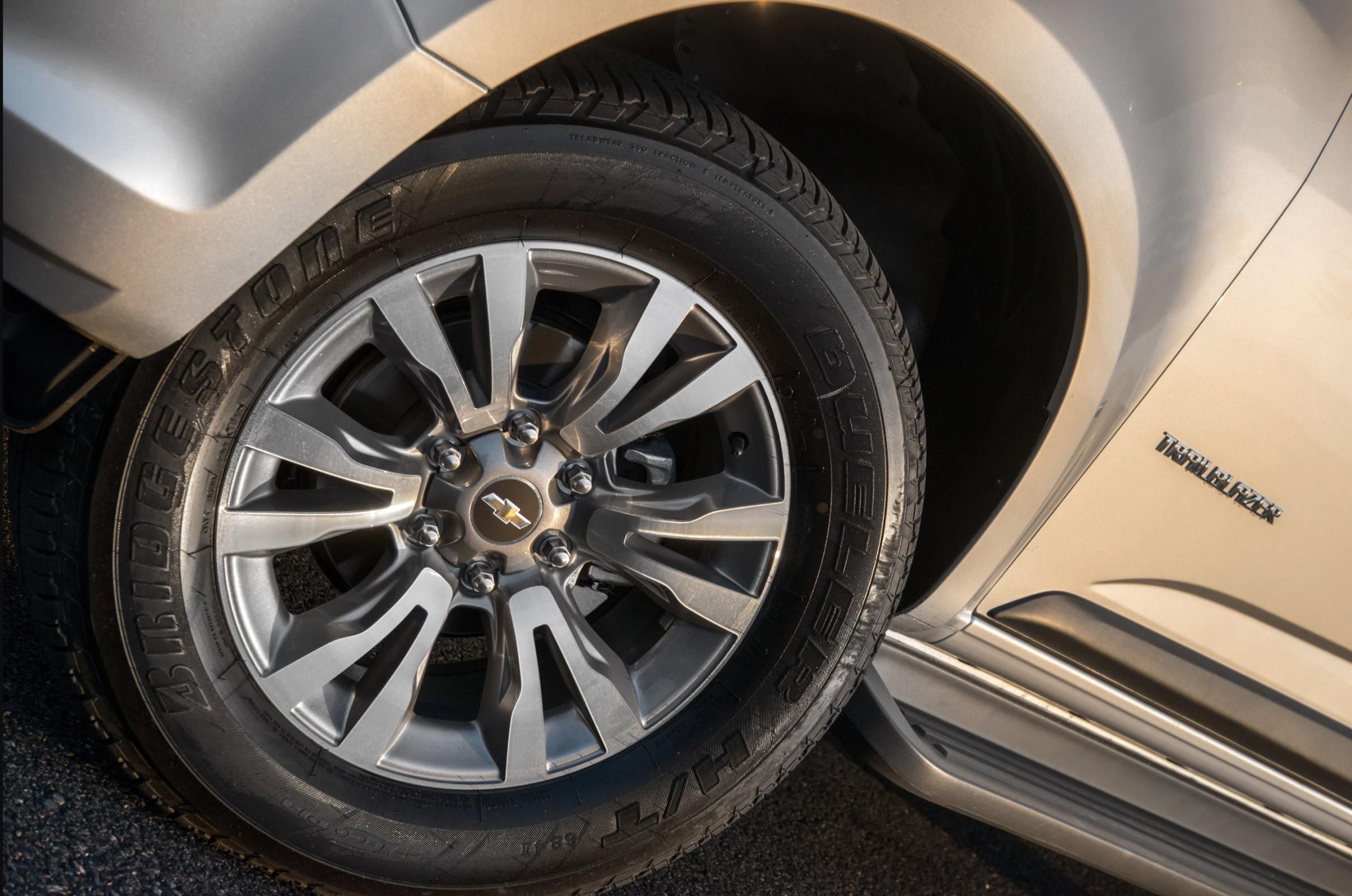Chevrolet Trailblazer tem rodas com seis pontos de fixação