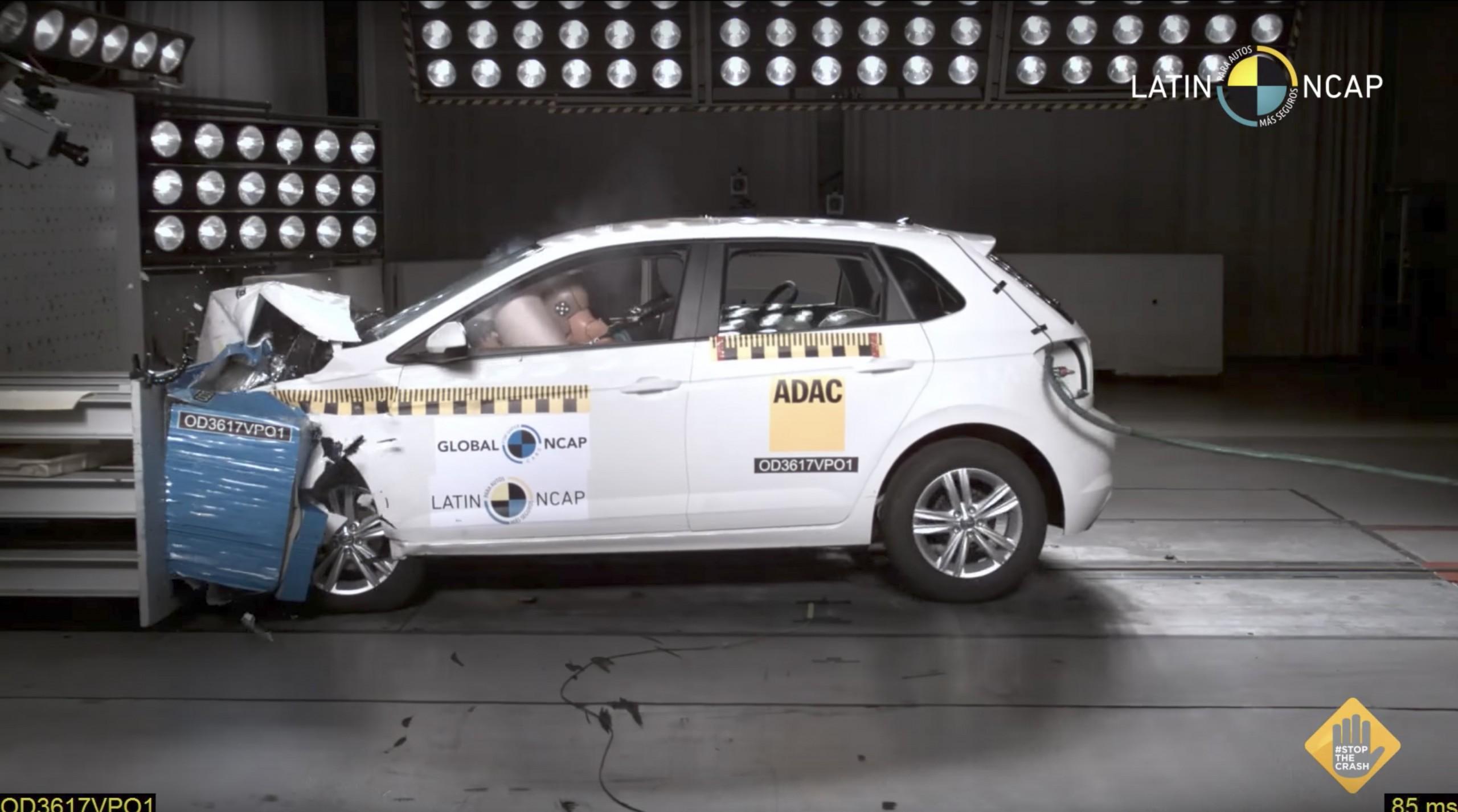 Latin NCAP crash test teste impacto Volkswagen Polo 26 set 2018