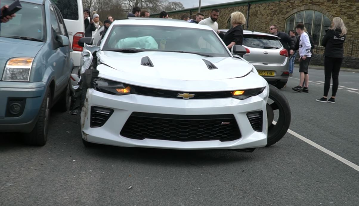 Chevy Camaro Crashes Leaving Car Show 3