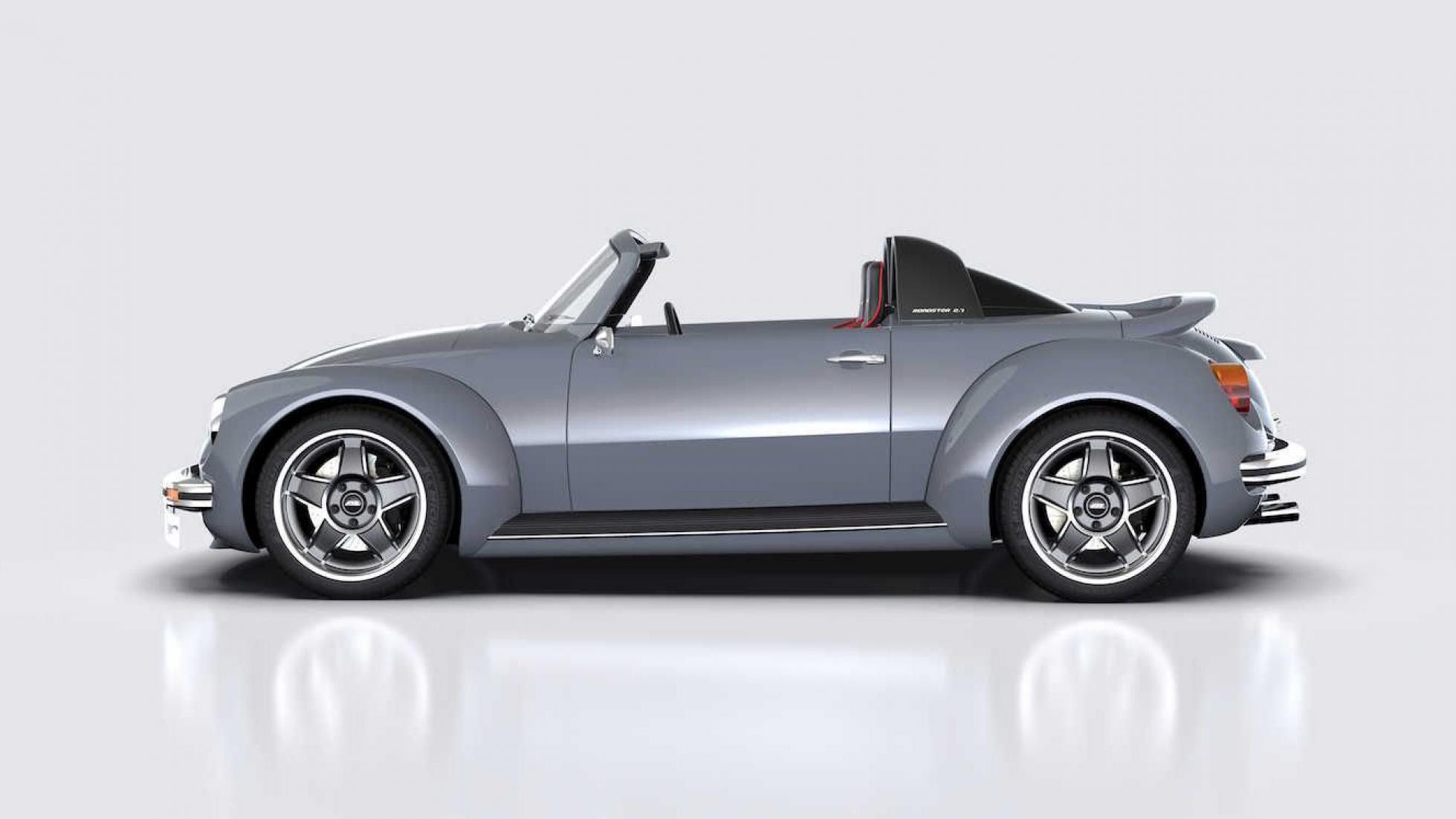 Memminger Roadster visto de lado é um espetáculo