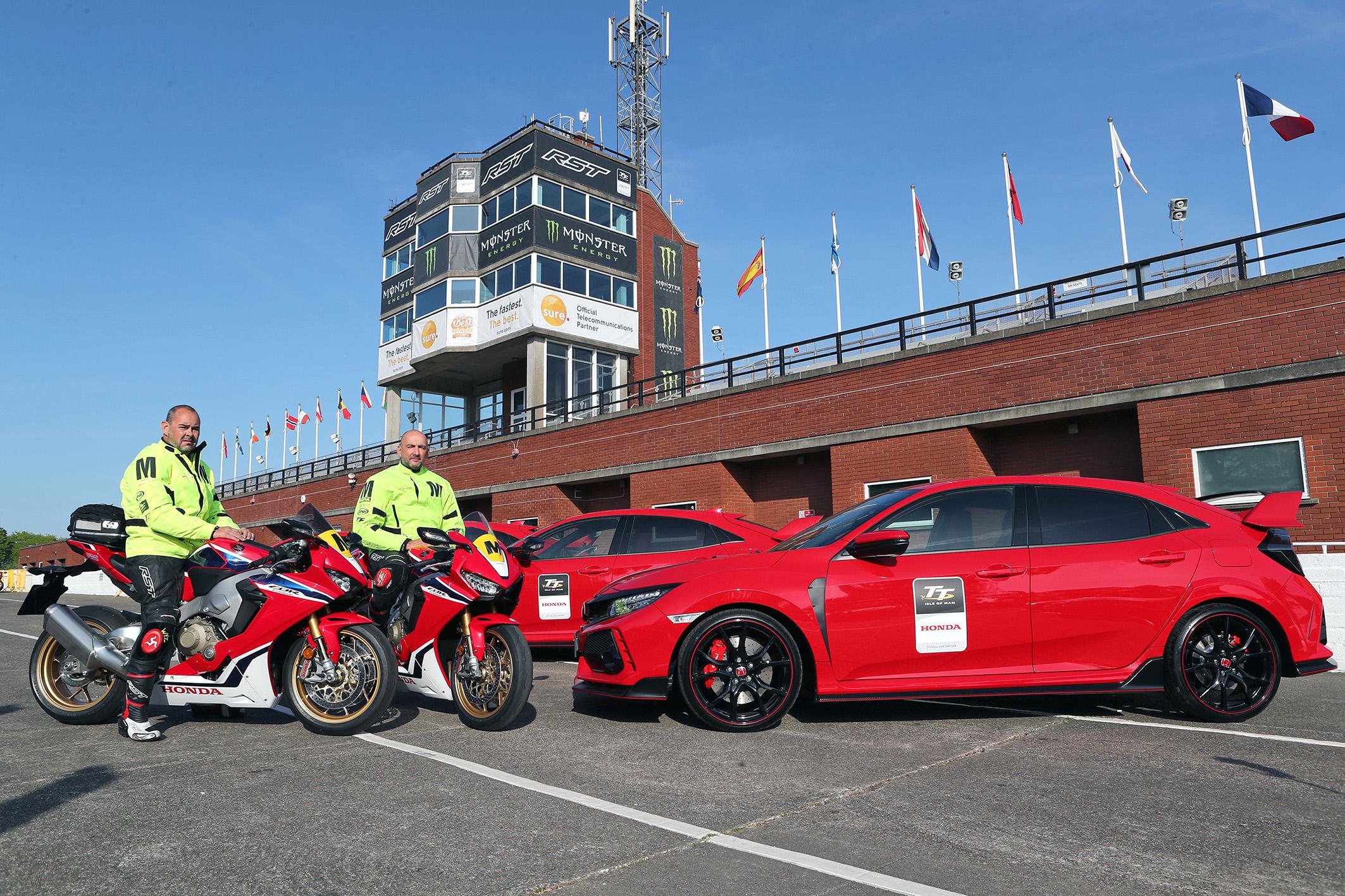 Honda CBR 1000RR SP e Civic Type R juntos para fazer a segurança do TT Isle of Man