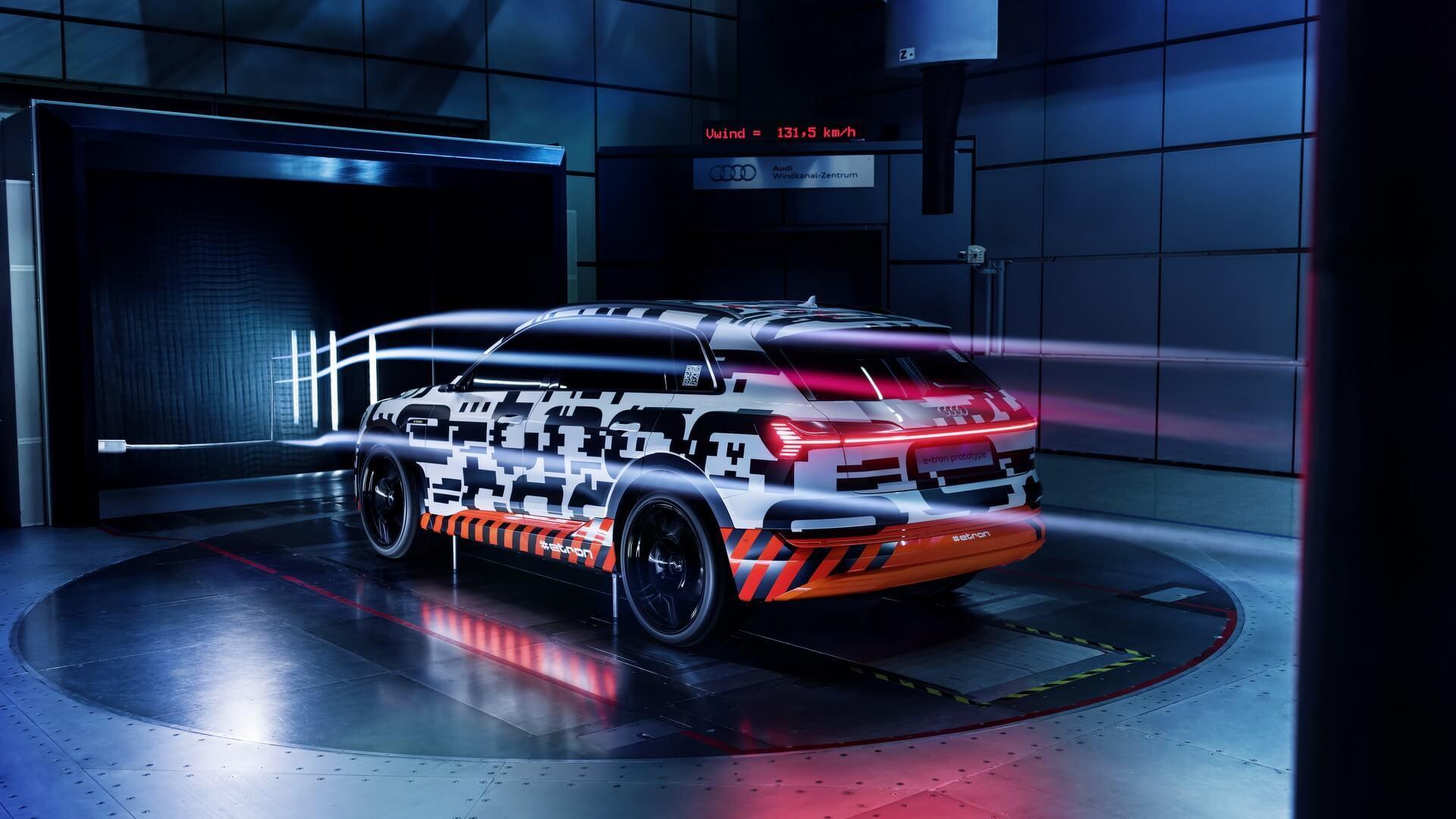 2019 Audi E Tron aerodinâmica teaser