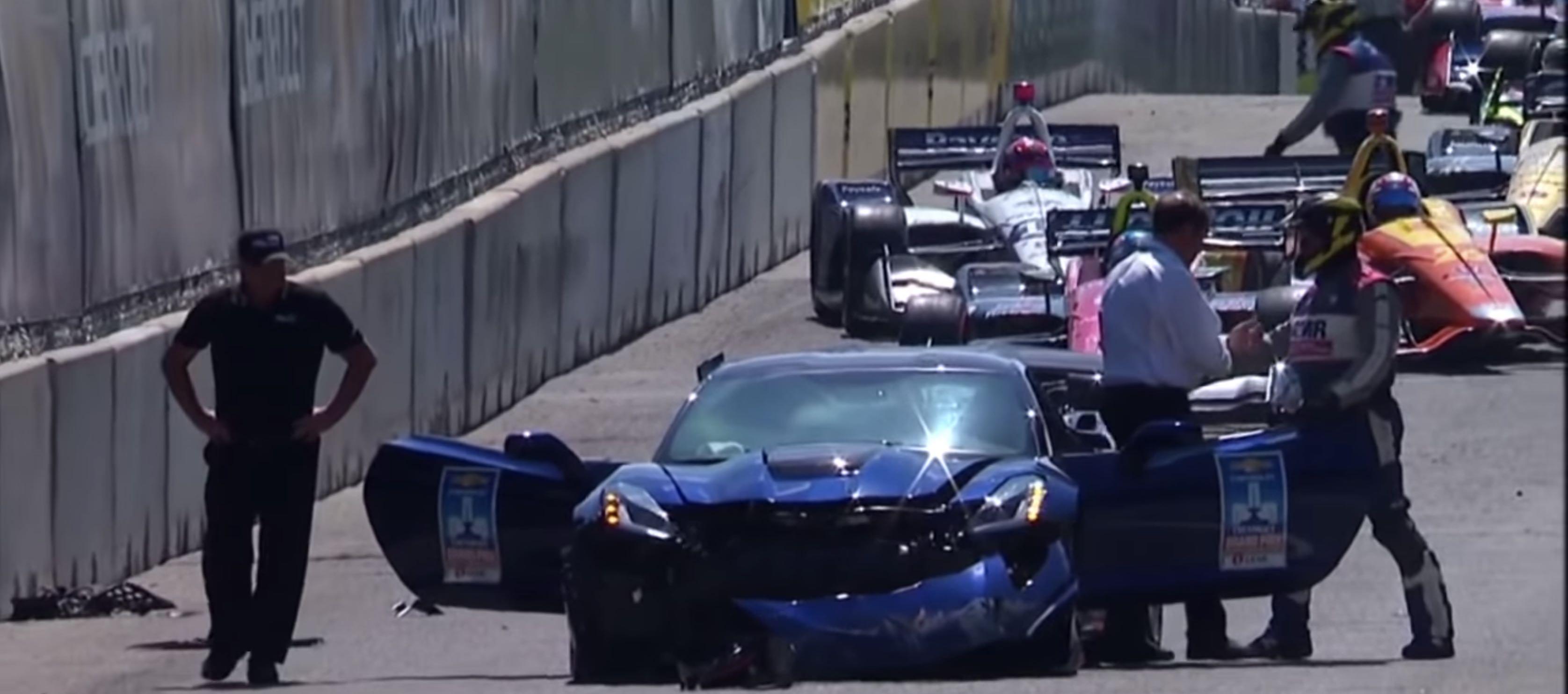 Acidente volta de apresentação Corvette ZR1 GP Detroit Indy 2018