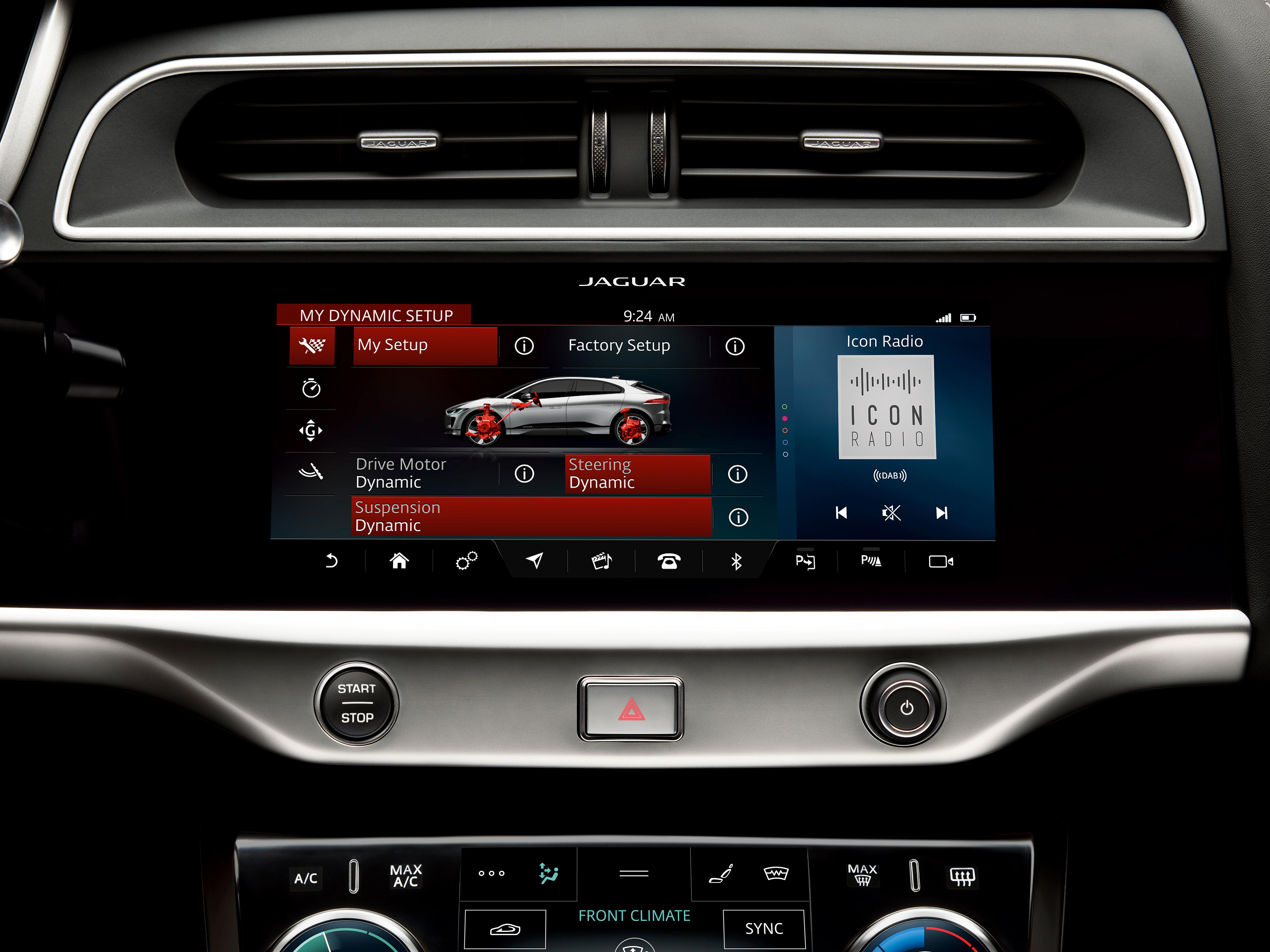 Central multimídia do I-Pace foi emprestada do irmão Range Rover Velar