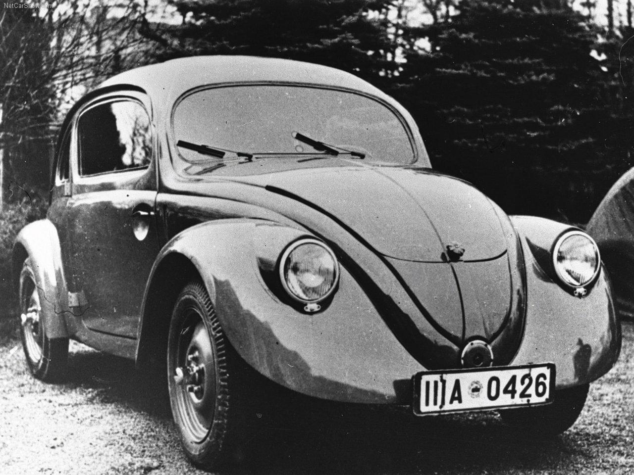 Exemplar de 1938 do Volkswagen Fusca, chamado de VW Sedan ou Käfer na Alemanha