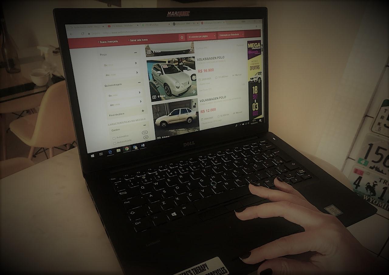Busca de carros na Webmotors