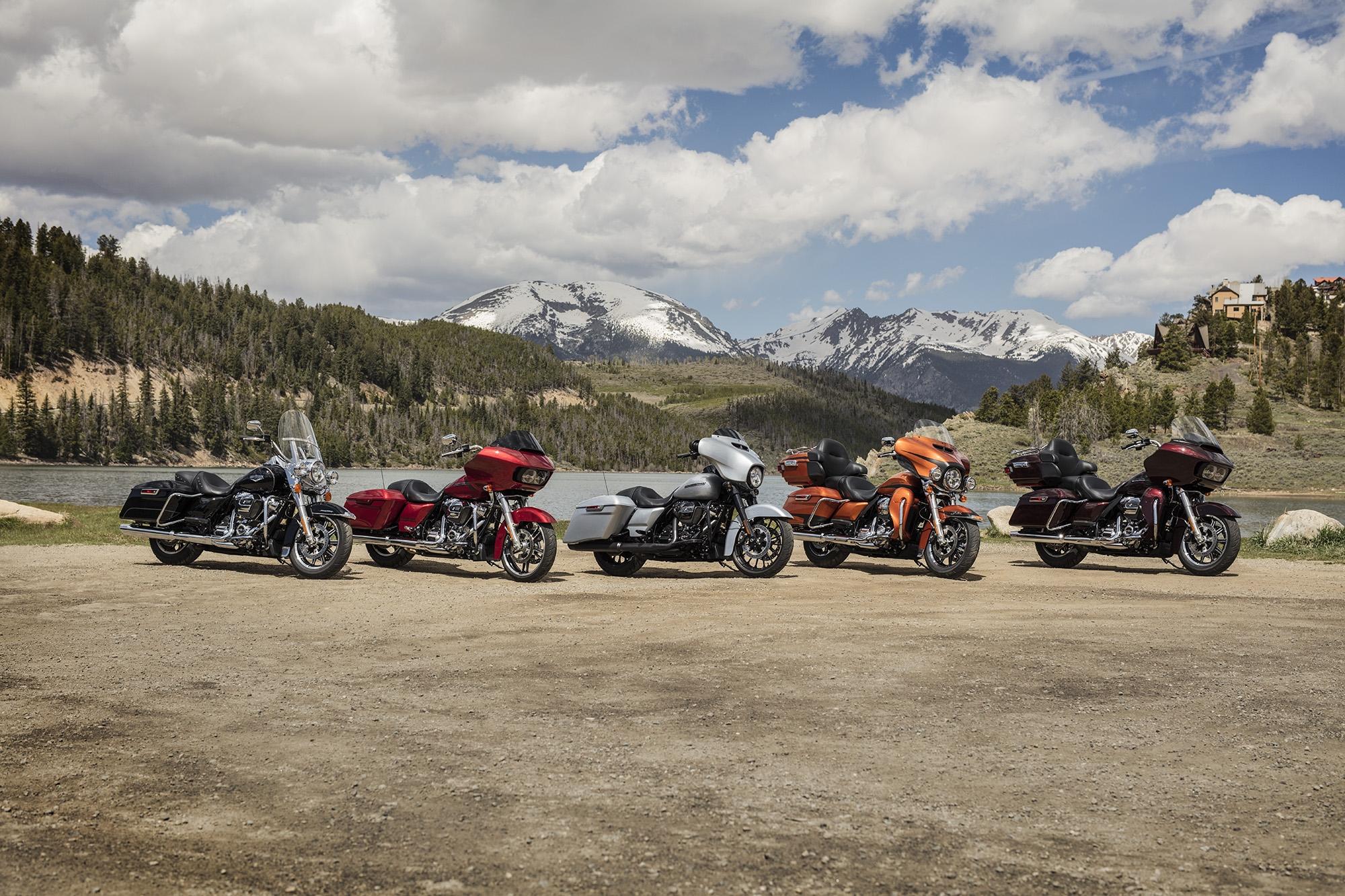 Linha Touring da Harley-Davidson 2019