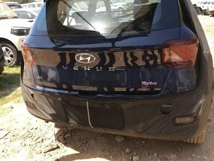 Hyundai Venue Rear Fascia Leaked Image A79a