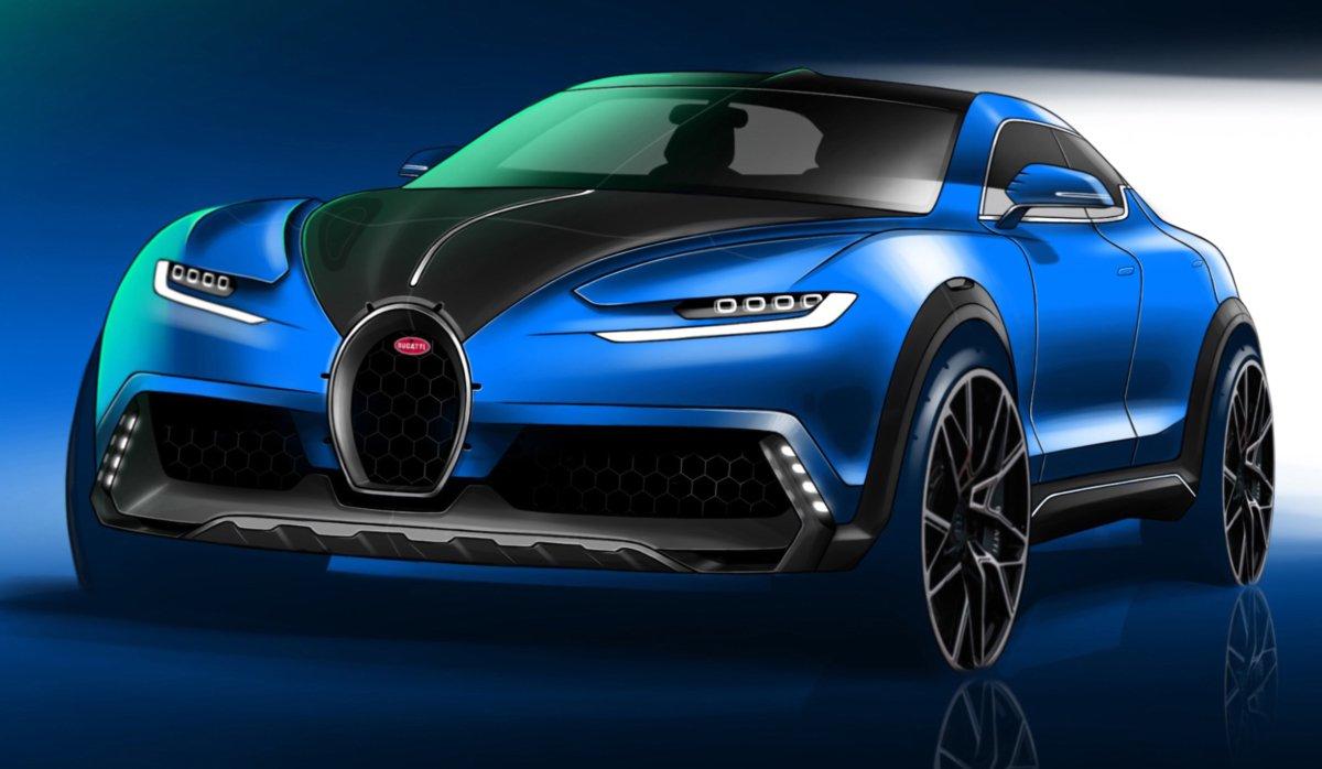 Projeção de SUV da Bugatti