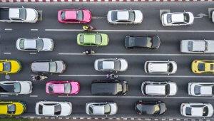 Trânsito visto de cima