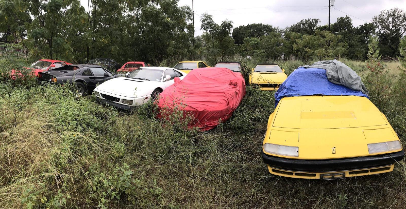 Ferraris abandonadas nos Estados Unidos