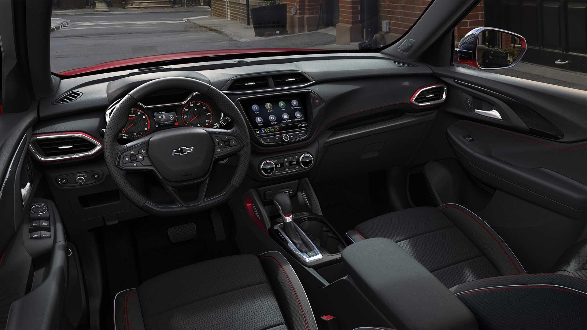 Interior do Chevrolet Trailblazer