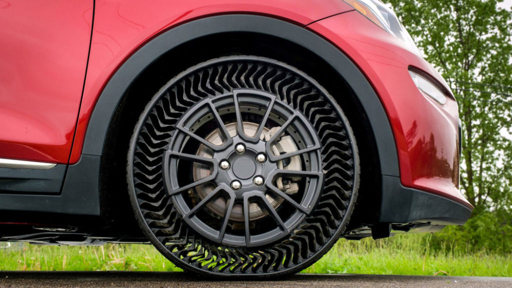 Pneu desenvolvido pela Michelin e Chevrolet não tem ar