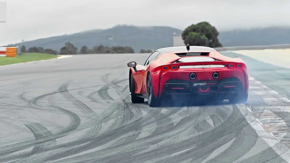 Ferrari Sf90 Stradale Rear Driving 2 E1559166410715