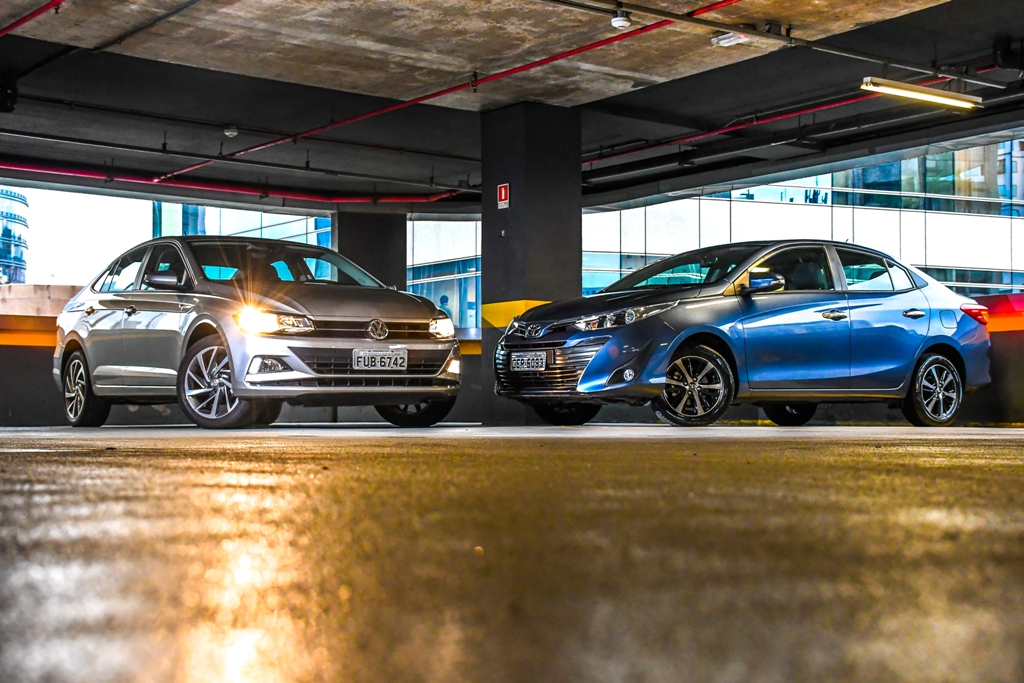Comparativo: Toyota Yaris XLS 1.5 x Volkswagen Virtus Highline 200 TSI