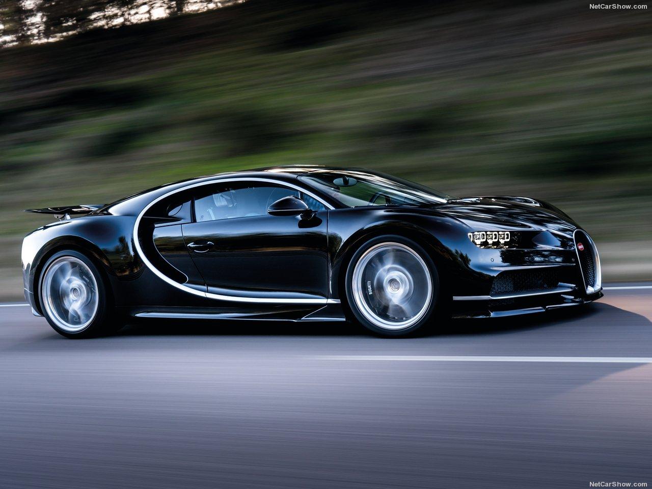Velocidade máxima do Bugatti Chiron é de 420 km/h (limitado eletronicamente)