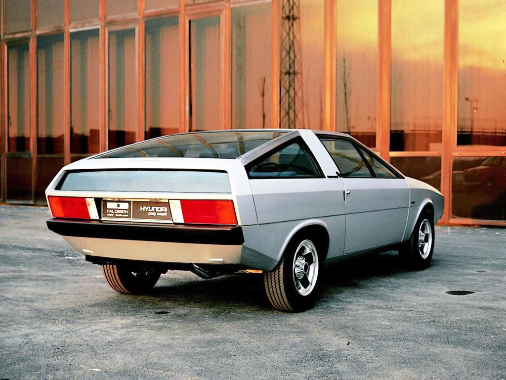 Hyundai Pony Coupe Concept apresentado em 1974, na Itália