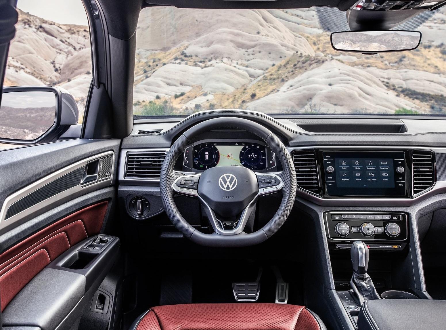 Interior do novo Volkswagen Atlas Cross Sport 2020