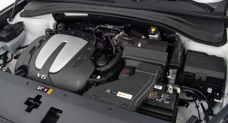 Motor do novo Santa Fe tem seis cilindros em V