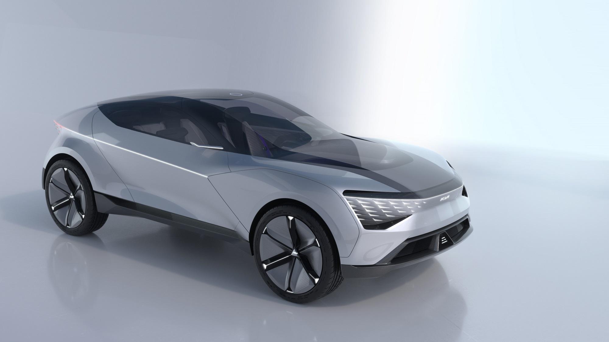 Kia Futuron Concept Parece nave espacial com superfícies repleta de vincos