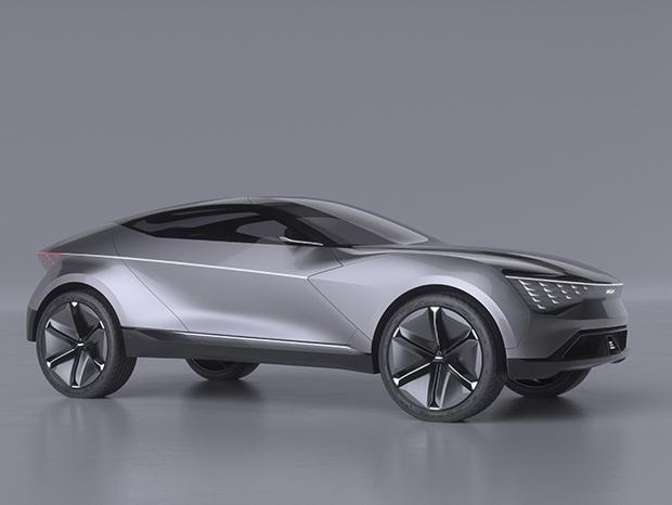 Kia Futuron Concept de perfil com destaque para os faróis com nichos de leds