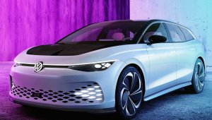 VW Space Vision tem conjunto de luzes que iluminam gachos na grade e na logomarca