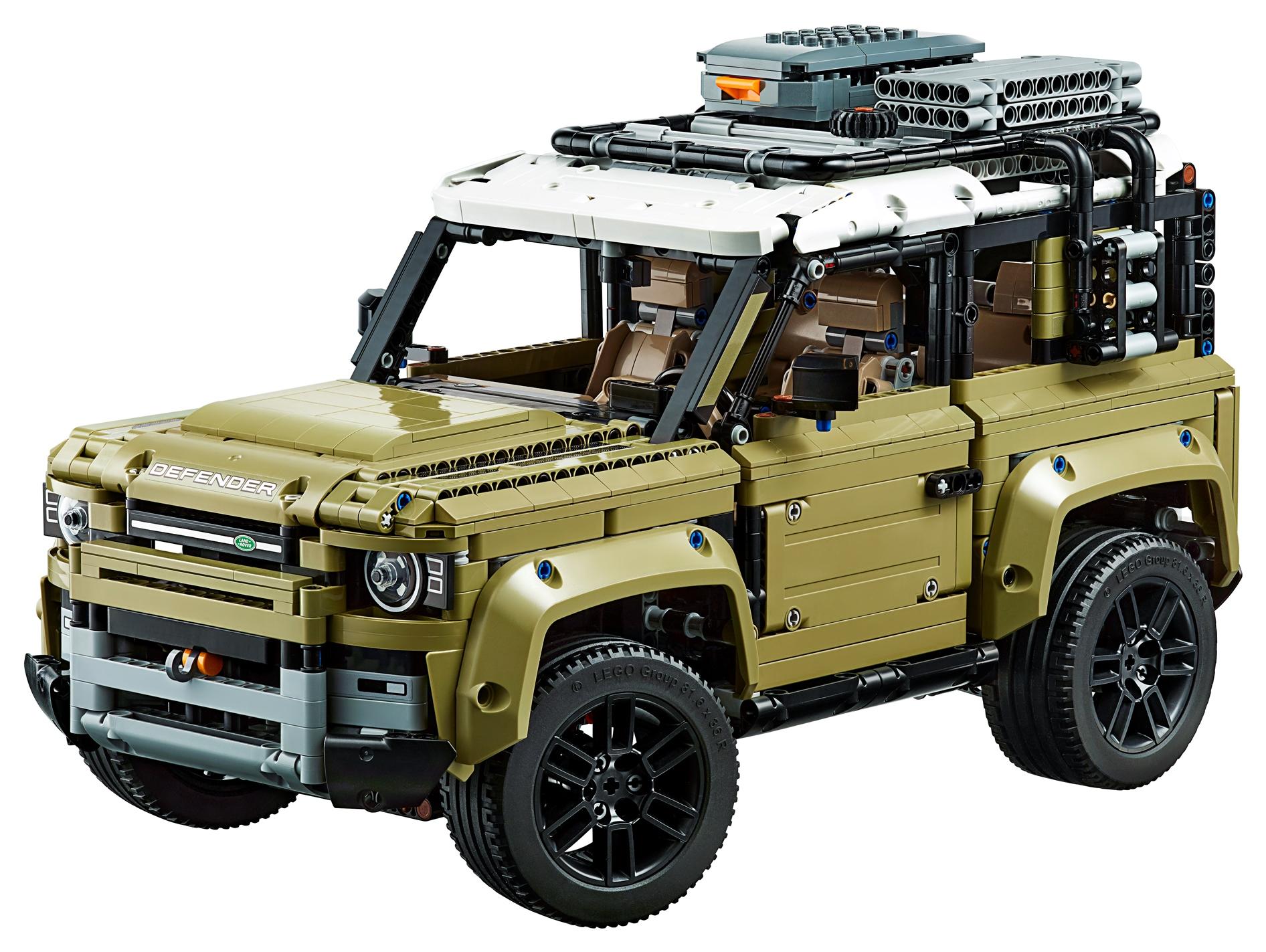 Miniatura da Lego mostra a antiga geração do Land Rover Defender bastante quadradona