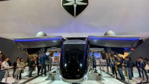 Táxi Voador Nexus 4ex no estande da Bell na CES 2020