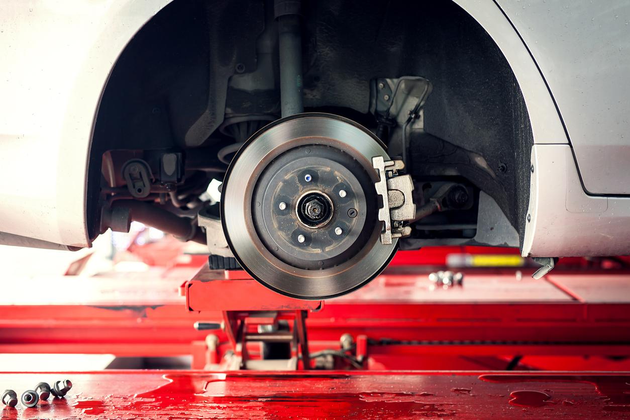 Disco de freio do carro sem rodas
