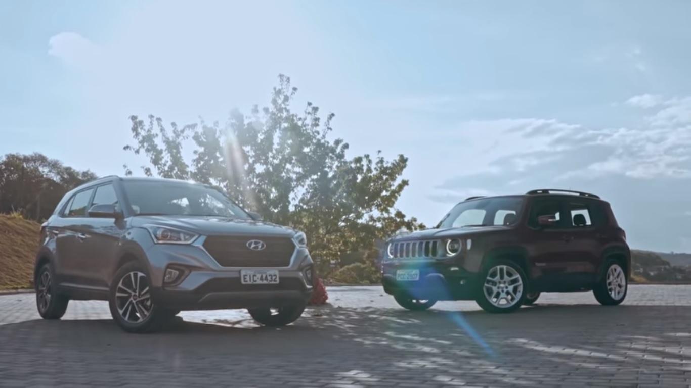Creta e Renegade são duas ótimas opções do mercado de SUVs compactos. Mas qual você levaria para casa?