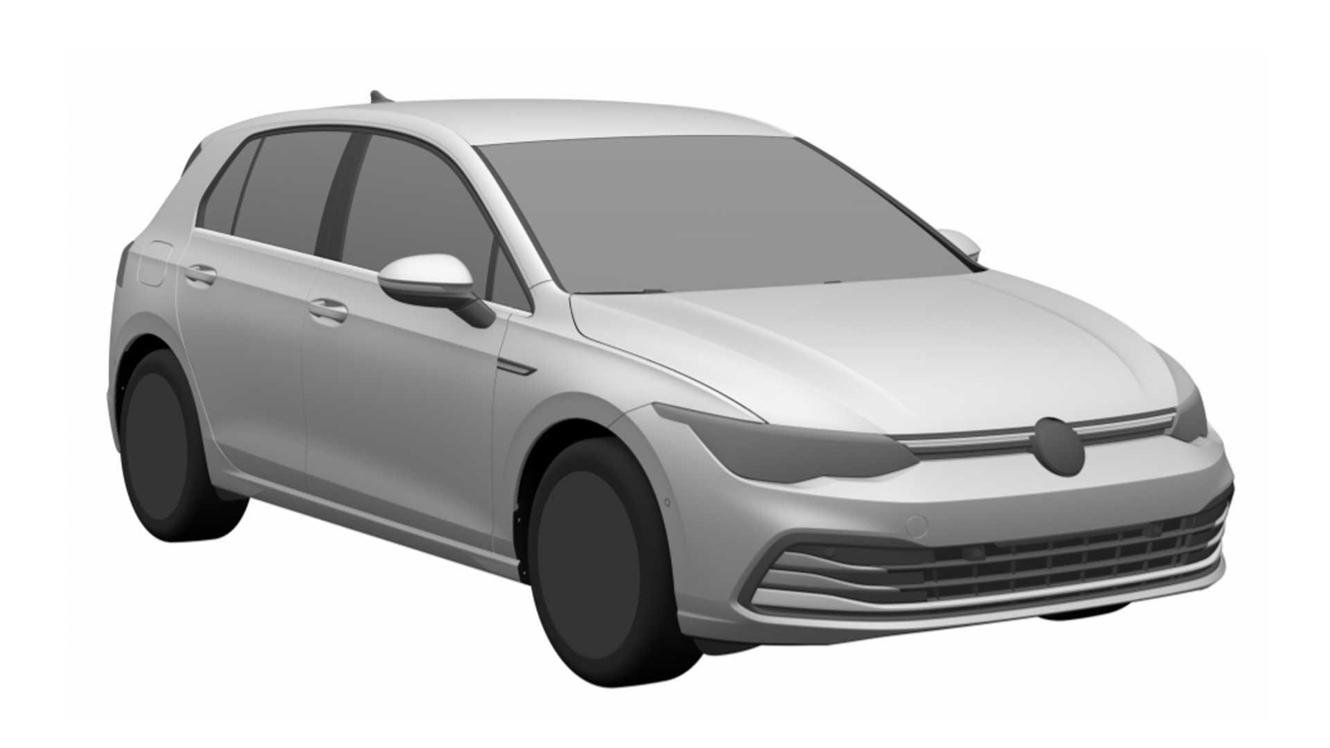 Volkswagen Golf de oitava geração foi registrado no INPI