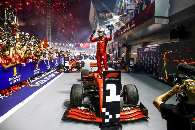 Sebastien Vettel no GP de Cingapura no