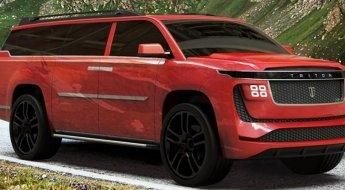 Triton Model H vermelho em movimento na estrada