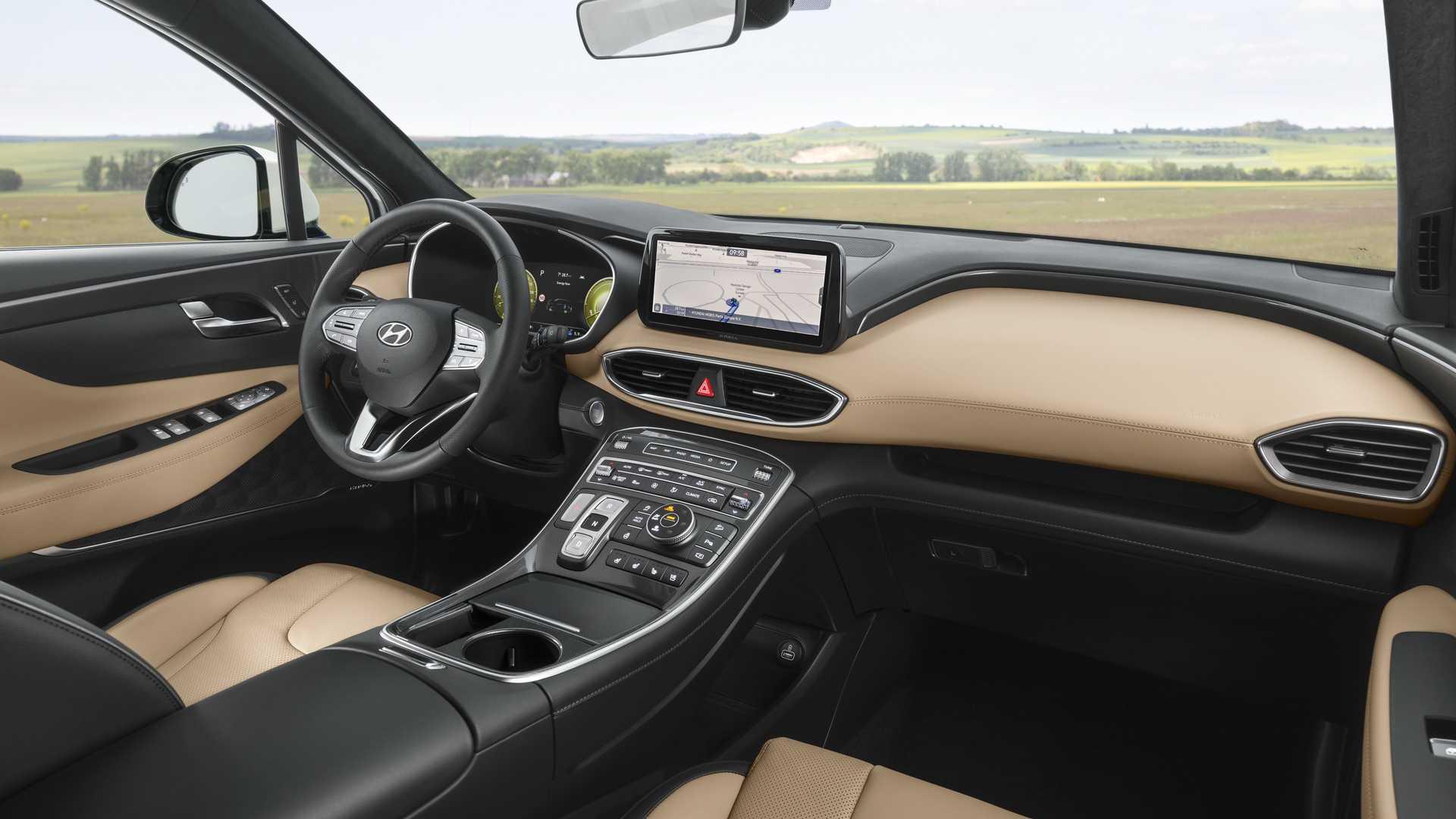 Cabine do noivo Hyundai Santa Fe foi inspirada no Palisade e tem quadro de instrumentos digital