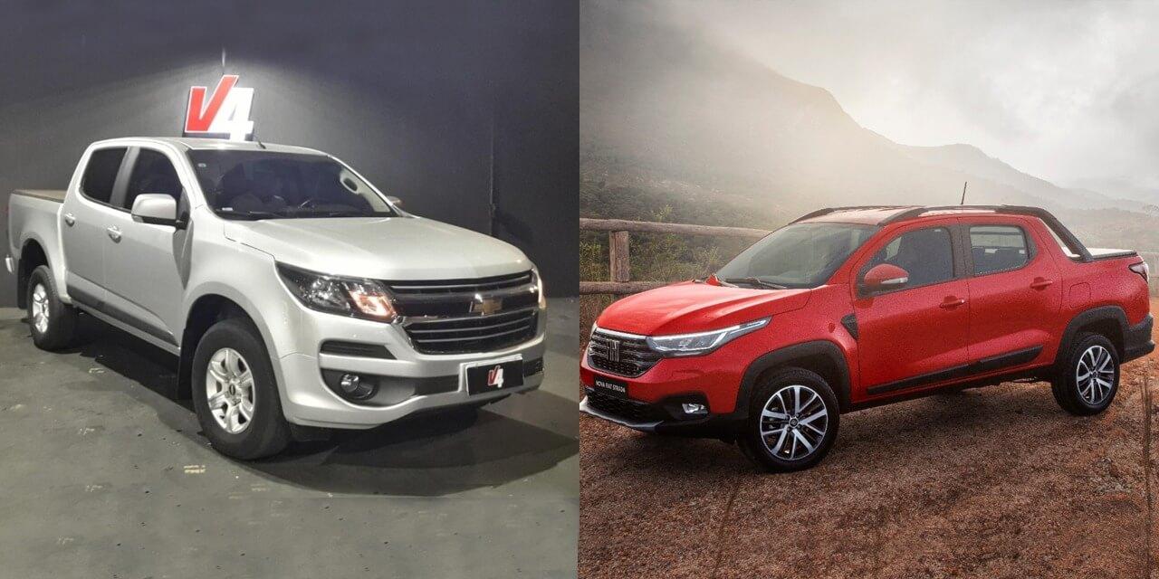 Nova Fiat Strada 0 km ou Chevrolet S10 usada?