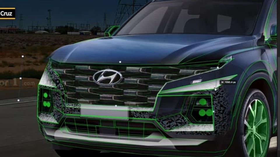 Projeção Hyundai Santa Cruz 2