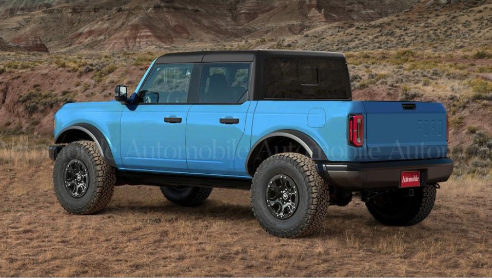 Ford Bronco Pick Up Render 02