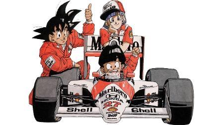 Carros de anime McLaren de Senna Dragon Ball