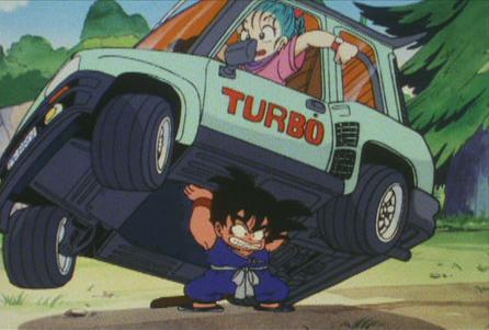 Carros de anime Renault 5 turbo de Dragon Ball
