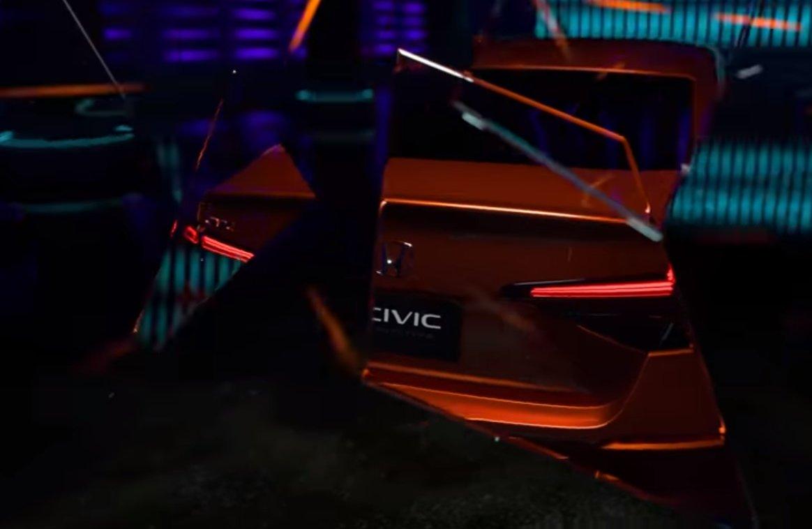 Novo Honda Civic Frame Do Vídeo Do Teaser (4)