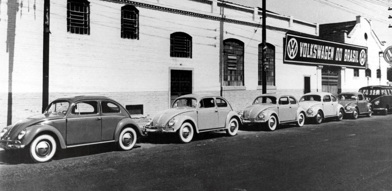 Fábrica da Volkswagen no Ipiranga produziu o primeiro Fusca com peças nacionais no fim da década de 1950
