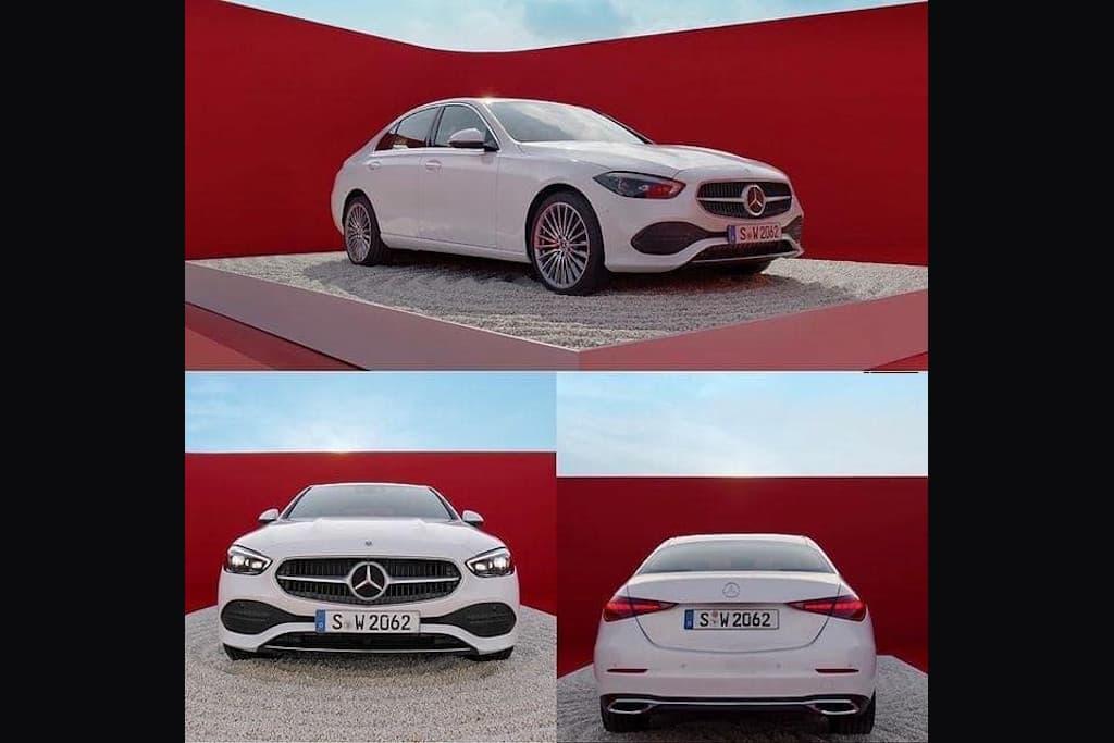 Vazam imagens do novo Mercedes Classe C