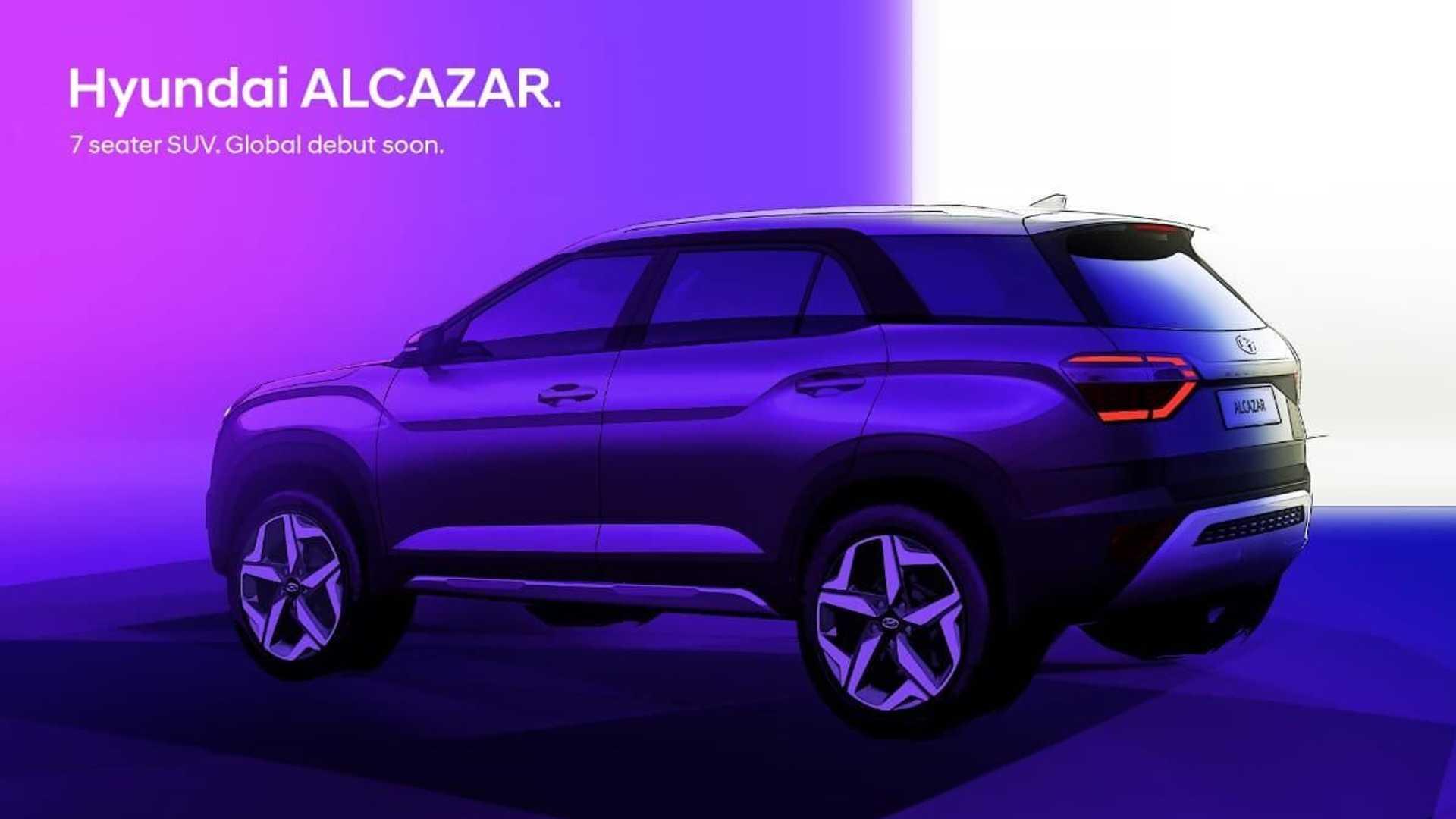 Alcazar, o Creta de 7 lugares, é uma das possibilidades de lançamento da marca sul-coreana no Brasil em 2022