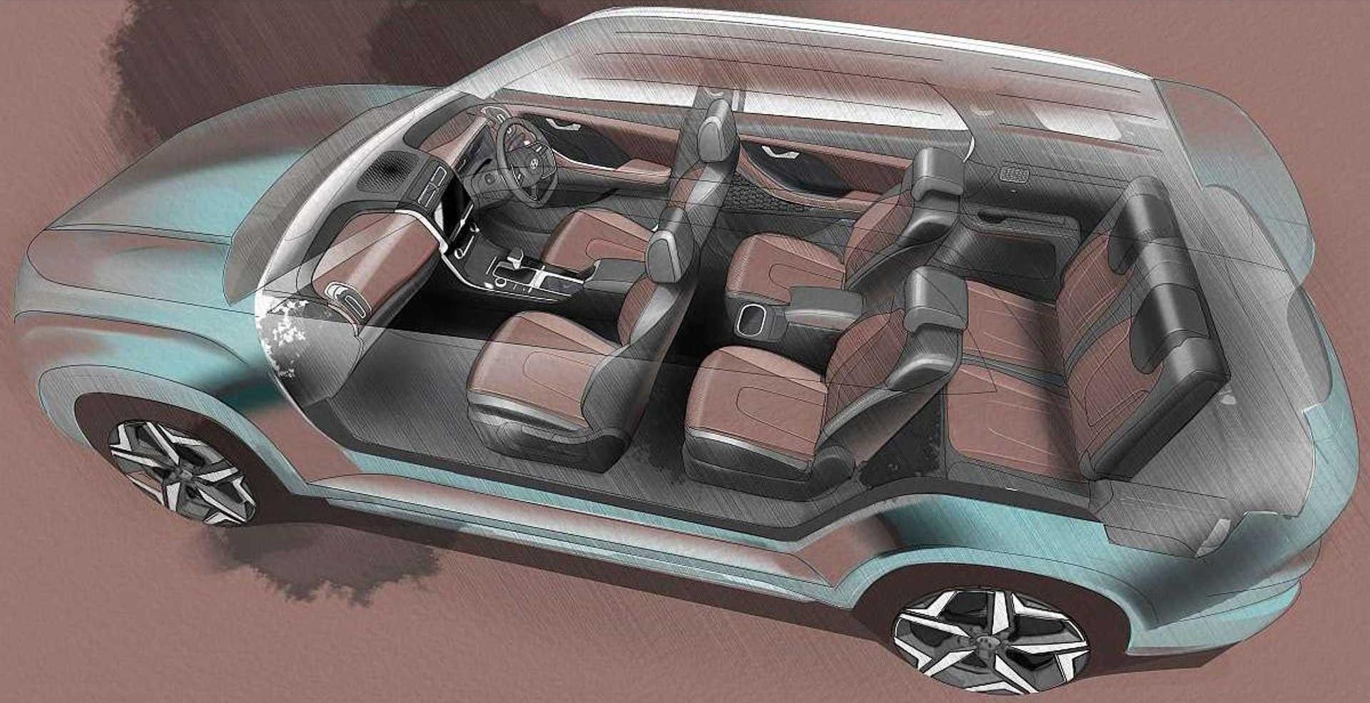 Hyundai Alcazar O Creta De 7 Lugares Interior